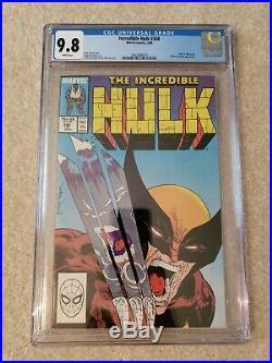 Incredible Hulk 340 CGC 9.8 freshly graded Marvel Comics classic cover