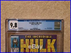 Incredible Hulk 340 CGC 9.8, perfect case! Marvel Comics Classic McFarlane cover