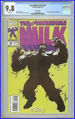 Incredible Hulk #377 CGC 9.8 White Pages (1991) 2102642021 3rd Printing