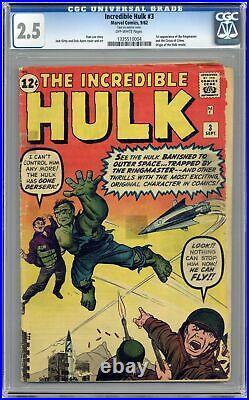 Incredible Hulk #3 CGC 2.5 1962 1335510004