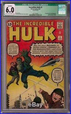 Incredible Hulk #3 CGC 6.0 (LT-OW) 1st Ringmaster Appearance