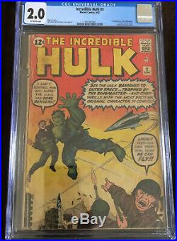 Incredible Hulk #3 Cgc 2.0 Of-w Pages! 1st Appearance Ringmaster/origin Key
