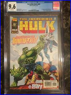 Incredible Hulk #449 CGC 9.6 WHITE 1st Appearance of The Thunderbolts KEY