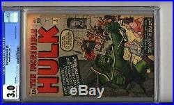 Incredible Hulk 5 CGC 3.0 1st Appearance of Tyrannus 102 CGC 5.0 2 Book Lot