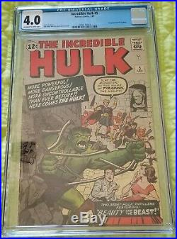 Incredible Hulk #5 CGC 4.0 1st Appearance of Tyrannus Off-White to White Pages