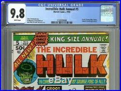 Incredible Hulk Annual #5 CGC 9.8 HULK vs GROOT & MARVEL MONSTERS Jack Kirby