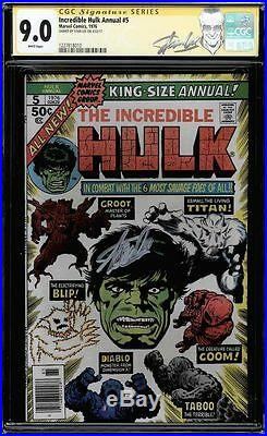 Incredible Hulk Annual #5 Cgc 9.0 White Ss Stan Lee New Label Cgc #1227818010