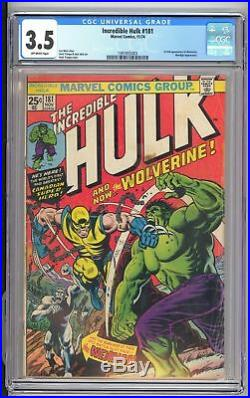 Incredible Hulk Vol. 1 #181 CGC 3.5 1st Appearance of Wolverine D