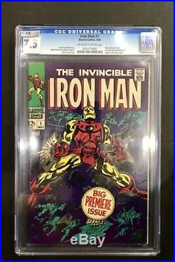 Iron Man #1 CGC 7.5 1968 Avengers! Thor! Hulk! Robert Downey Jr