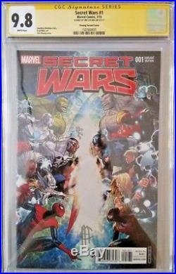 MARVEL Comics SECRET WARS #1 CGC SS 9.8 1100 Variant SPIDER-MAN DOOM HULK THOR