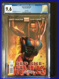 RED SHE HULK #58 1 in 50 GREG HORN VARIANT CGC 9.6 WHITE PAGES