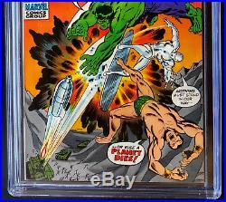 SUB-MARINER #34 CGC 9.0 RARE HULK & SILVER SURFER APP! Marvel 1971