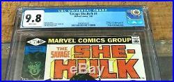 Savage SHE HULK #1 CGC 9.8 WHITE Pages 02/1980 1st appearance SHE-HULK