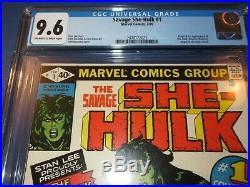 Savage She-Hulk #1 Bronze age 1st Appearance CGC 9.6 NM+ Gorgeous Gem Wow