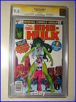 Savage She-Hulk #1 CGC 9.4 SS Signed Stan Lee and Joe Sinnott 1st Appearance