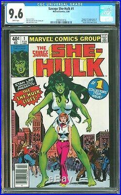 Savage She-Hulk 1 CGC 9.6 (Newsstand Version First Appearance of She-Hulk)