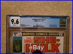 Savage She-hulk 1 CGC 9.6 freshly graded Marvel Comics