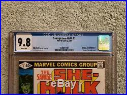 Savage She-hulk 1 CGC 9.8, freshly graded. Marvel Comics
