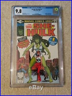 Savage She-hulk 1 CGC 9.8, freshly graded Marvel Comics 1st appearance, origin