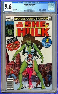 Savage She-hulk #1 Cgc 9.6 Wp Nm+ Origin & 1st Appearance