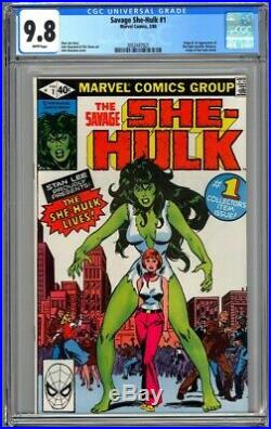 Savage She-hulk #1 Cgc 9.8 Wp Nm/mt Origin & 1st Appearance