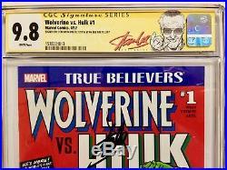 Stan Lee Len Wein Signed CGC 9.8 Signature SS Wolverine Hulk #1 True Believers