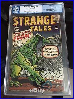 Strange Tales 89 Cgc 4.5 Pgx 1 St Fin Fang Foom Avengers Thor Hulk Spiderman