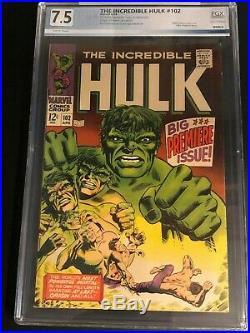 The Incredible Hulk #102, PGX (not CGC) 7.5 (VF-), Origin Retold