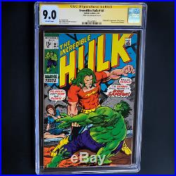 The Incredible Hulk #141 Signed By Stan Lee! Cgc Ss 9.0 1st Doc Sampson