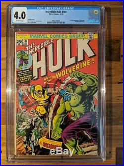 The Incredible Hulk #181 Cgc 4.0 Ow Pages First Appearance Wolverine