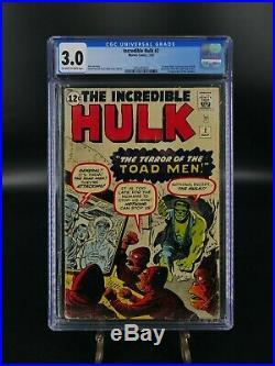 The Incredible Hulk #2 GD/VG CGC 3.0