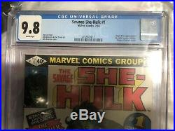 The Savage She-hulk #1 Cgc 9.8 White Pages, Stan Lee, Hot Key Book! Vhtf Rare
