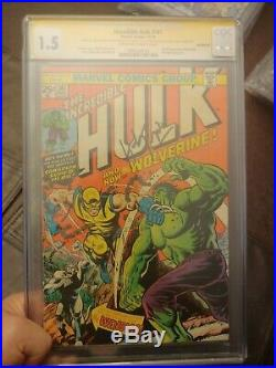 The incredible hulk #181 CGC SS 1.5 Signed by Herb Trimpe 1st app of Wolverine