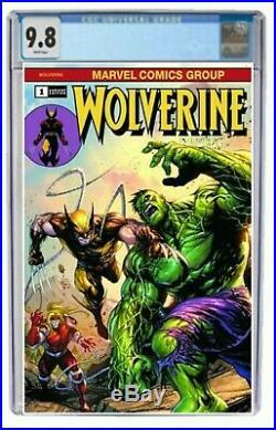 Wolverine #1 CGC 9.8 Graded Tyler Kirkham 181 Homage Hulk Variant Comic PreOrder
