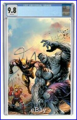 Wolverine #1 CGC 9.8 Graded Tyler Kirkham Grey Hulk Virgin Variant Comic Presale