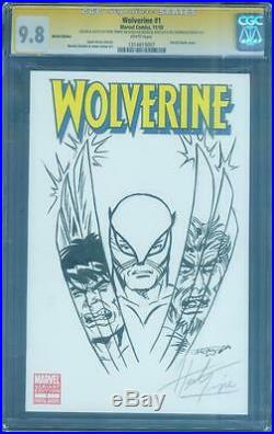 Wolverine 1 Variant CGC 9.8 SS Herb Trimpe Incredible Hulk 181 Windgo art Sketch