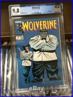 Wolverine #8 Cgc 9.8 Grey Hulk Claremount Marvel Comics (1989)