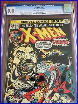 X-Men 94 CGC 9.0 OWithW Hulk 181 Stan Lee SWEET